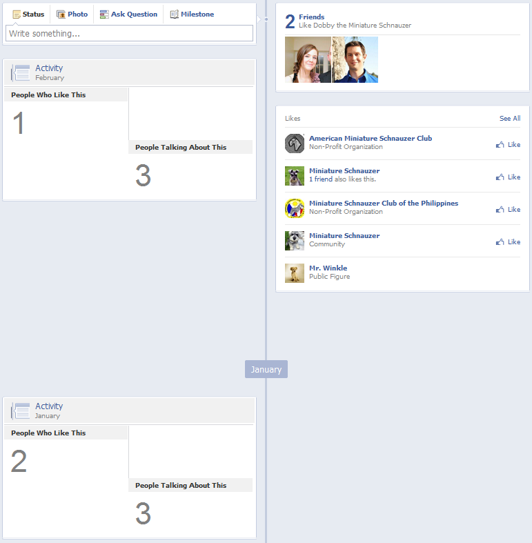 New Facebook Pages Timeline Design - Lack of Recent Activity