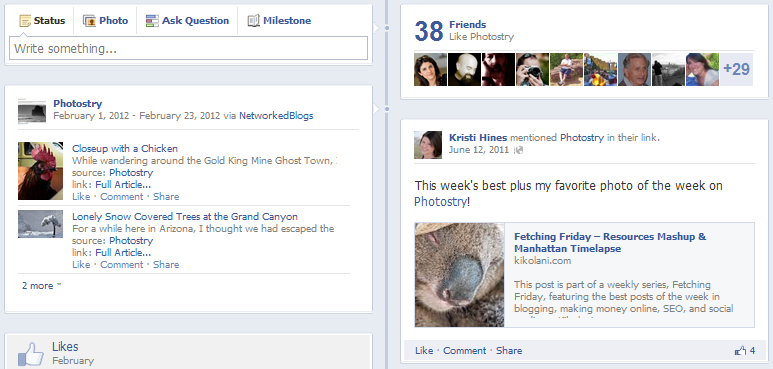 New Facebook Pages Timeline Design - Third Party Updates