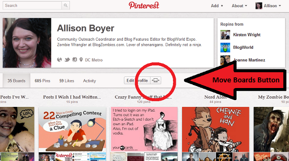 Move Pinterest Boards