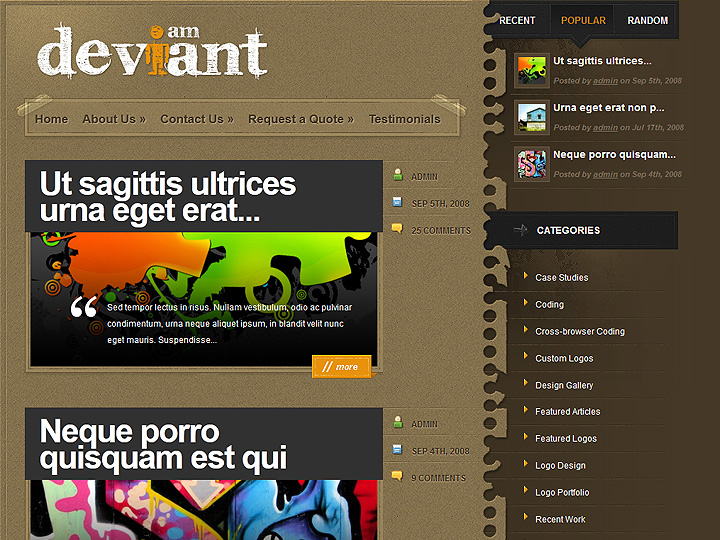 elegantthemes-review-deviant-theme-preview
