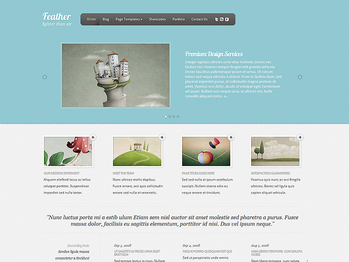elegantthemes-review-feather-theme-preview