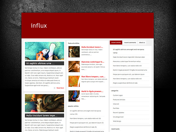 elegantthemes-review-influx-theme-preview