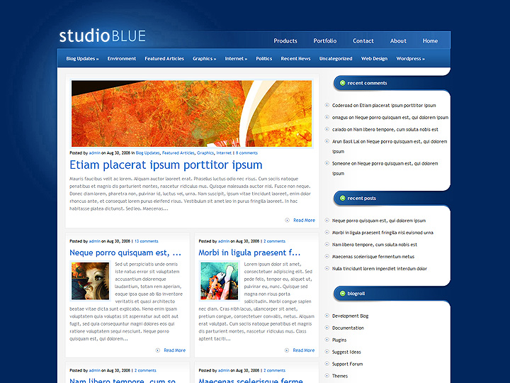 elegantthemes-review-studioblue-theme-preview