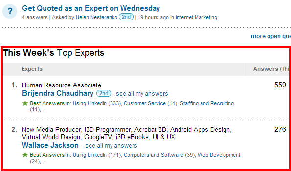 linkedin-answers-top-experts