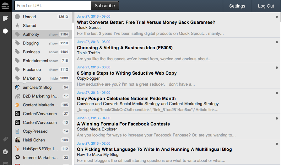 Google Reader Alternative Web-Based RSS Readers - Feedbin