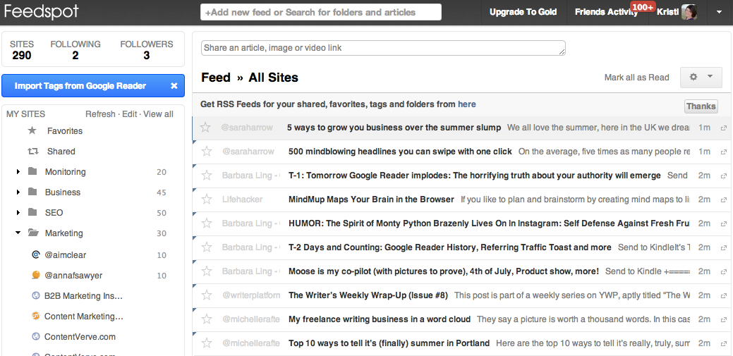 Google Reader Alternative Web-Based RSS Readers - FeedSpot