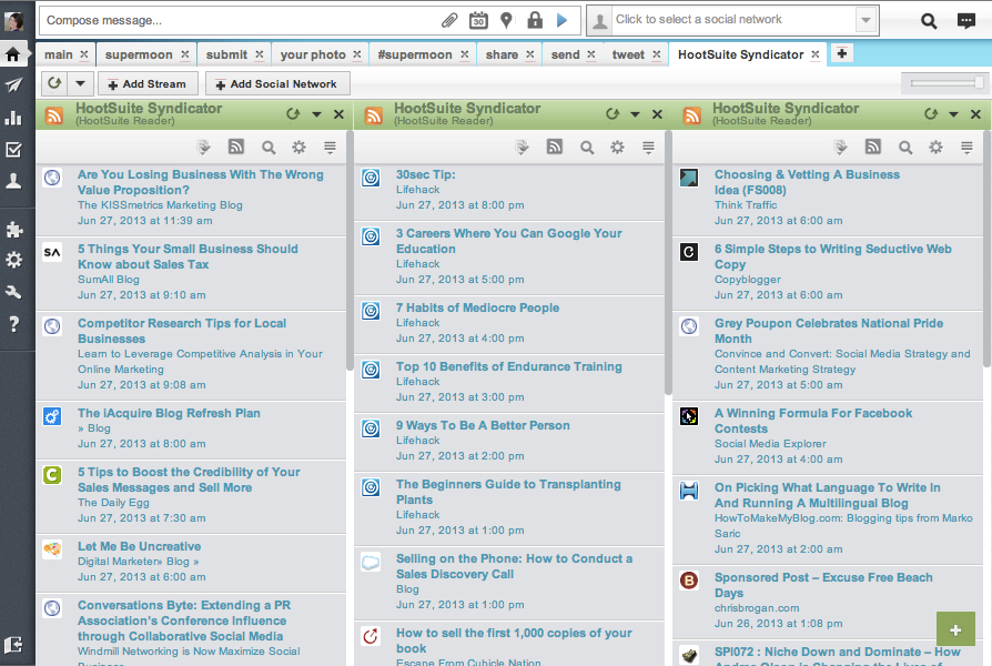 Google Reader Alternative Web-Based RSS Readers - HootSuite