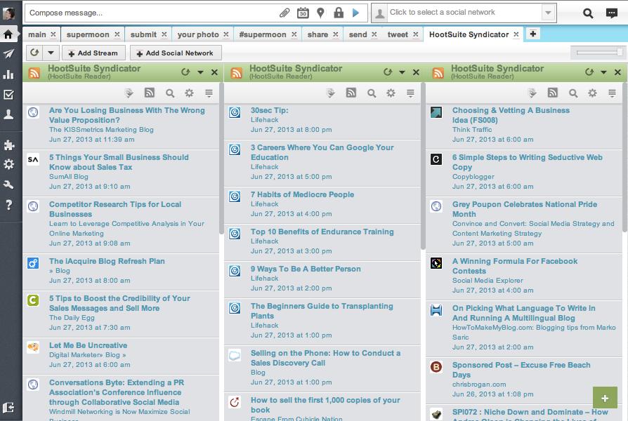 Google Reader Alternative Web-Based RSS Readers - HootSuite