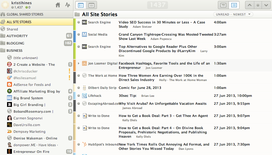 Google Reader Alternative Web-Based RSS Readers - NewsBlur