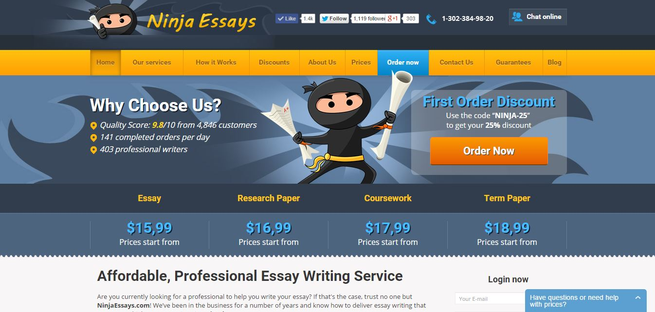 Us based essay writing service examples