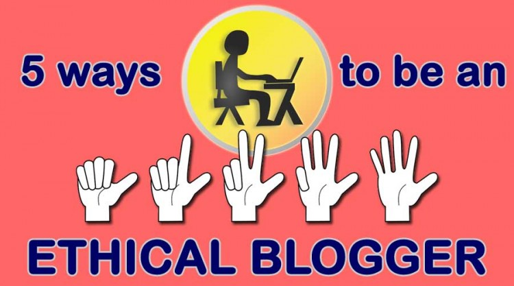 Hands with fingers showing 5 ways to be an ethical blogger