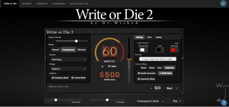 Write or Die