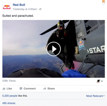 red bull visual content social media marketing