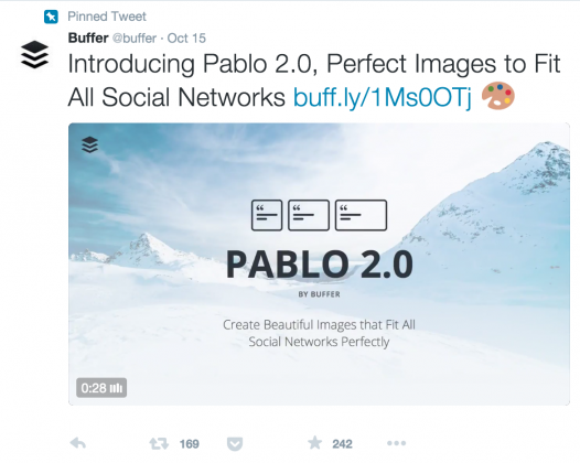twitter cards buffer example visual content marketing