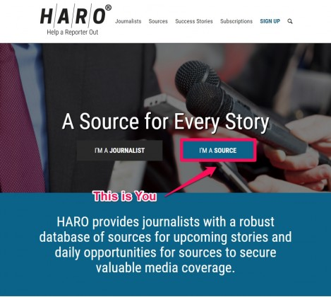 HARO-home-page