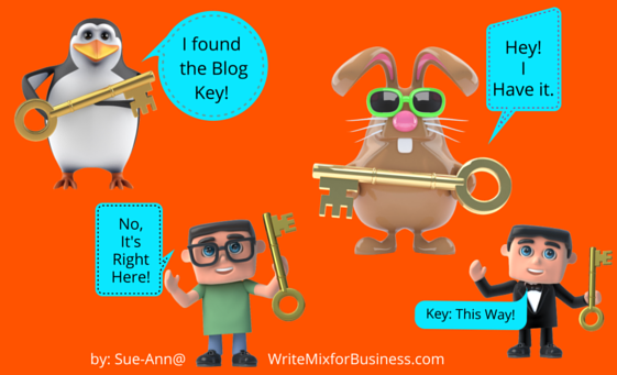 Graphic for Finding the Key to a Great Blog for kikolani by Sue-Ann Bubacz