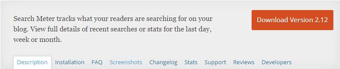 Search Meter User Experience Plugin