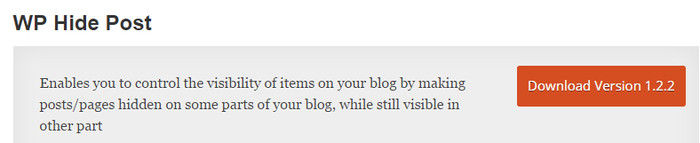 Wp Hide Post User Experience Plugin