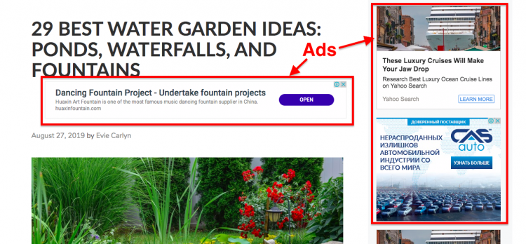 Display ads example