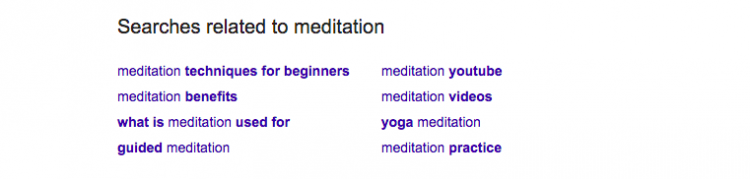 Searches related to meditation