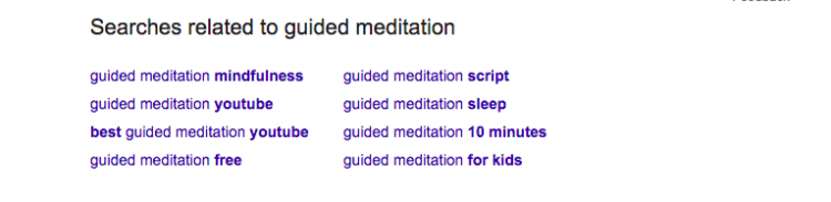 Searches related to guided meditation