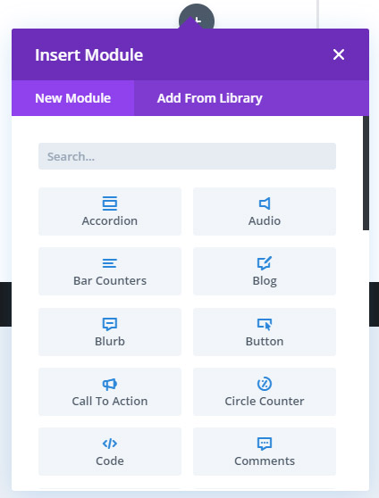 Inserting module in Divi