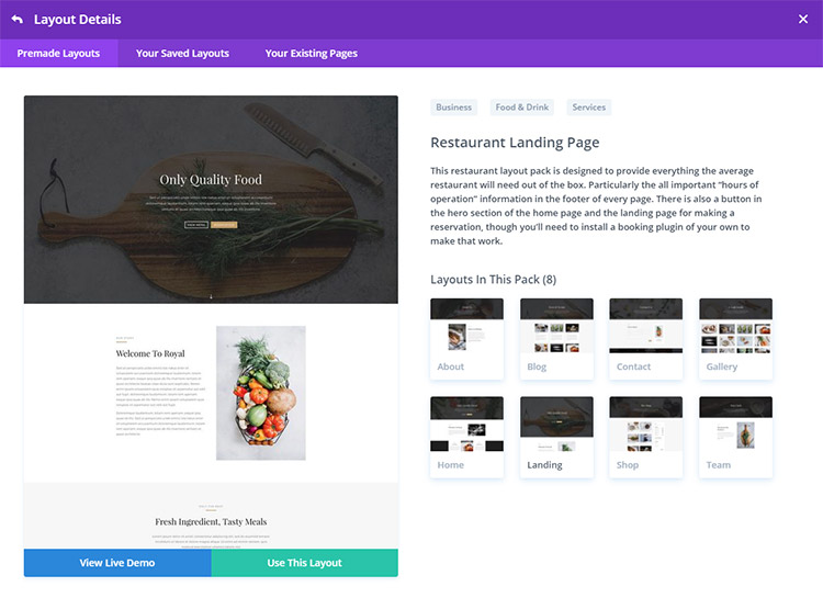Divi Website Pack