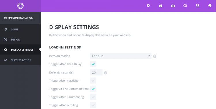Elegant Themes review: Bloom settings