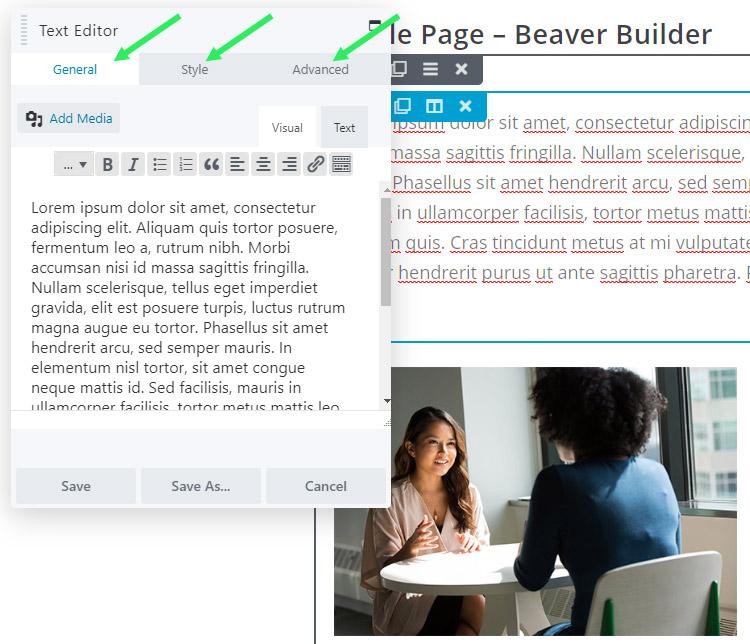 Beaver Builder tabs