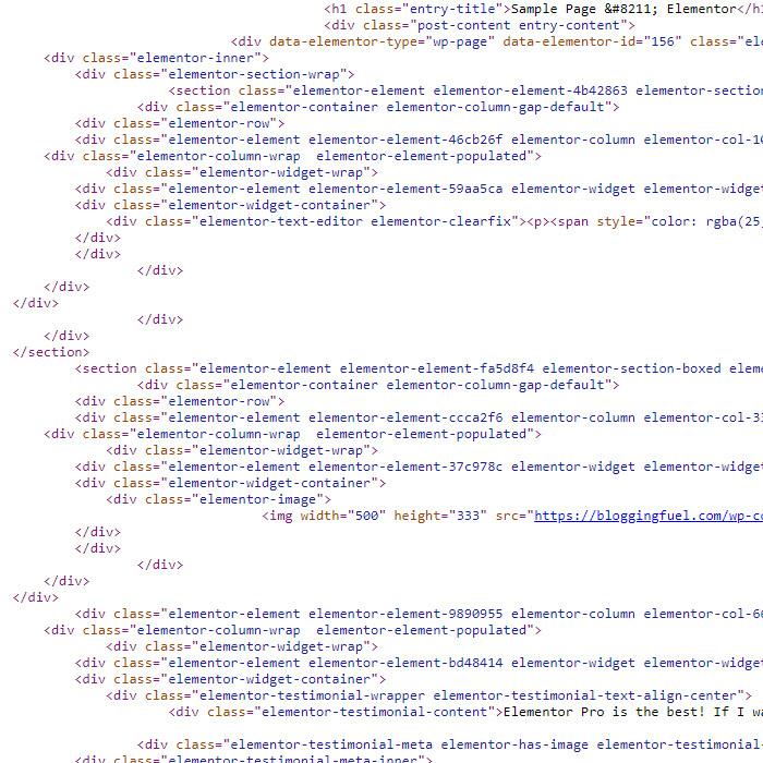 Elementor Code