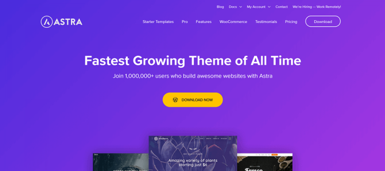 Best WordPress Blog Themes: Astra