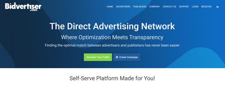 Google Adsense alternatives: Bidvertiser