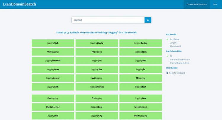 Blog Name Generators - LeanDomainSearch