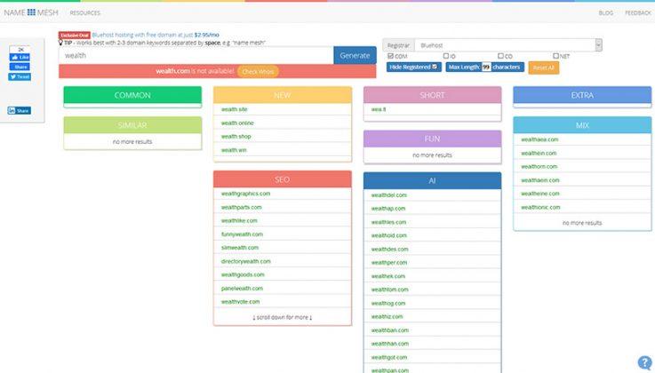 Blog Name Generators - NameMesh