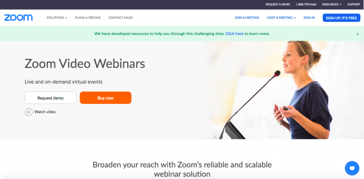 Zoom webinar software