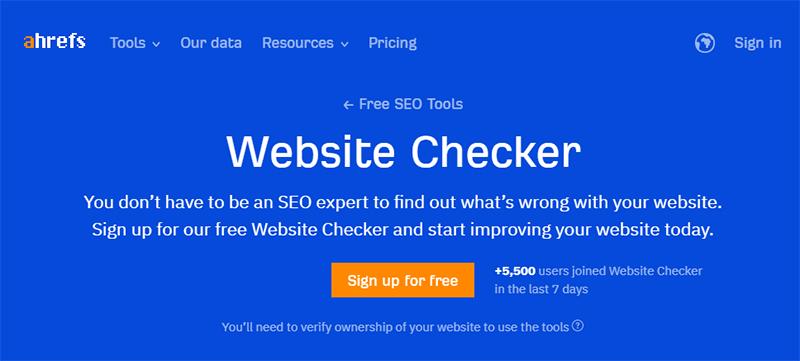 Ahrefs Website Checker